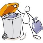 Feu dans une benne d'ordures ménagères : ne pas jeter de déchets dangereux dans les poubelles ordures menagères ou de tri