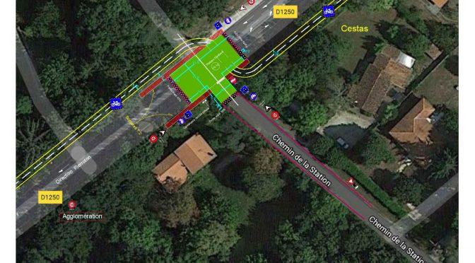 du 19 juillet au 6 août : Aménagement d'un plateau surélevé au droit du carrefour Rd1250 / Chemin de la Station
