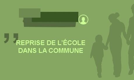 Reprise de l'école – Informations aux familles (MAJ du vendredi 29 mai)