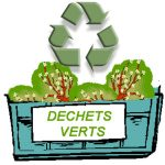 ramassage des dechets de jardin