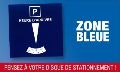Info mise en place zone bleue